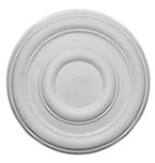 "14"" Plain Plaster Ceiling Rose 356mm"