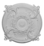 "16.5"" Rococo Plaster Ceiling Rose 419mm"
