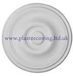 "22"" Plain Plaster Ceiling Rose 559mm"