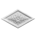 Diamond Acanthus Plaster Ceiling Rose 660mm by 390mm