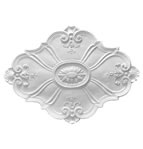 Large Baroque Oval Plaster Ceiling Rose 900mm by 650mm