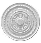 Large Roped Plaster Ceiling Rose 670mm