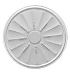 Round Adam Drop Plaster Ceiling Rose 508mm