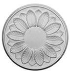 Small Leaf Plaster Ceiling Rose 305mm