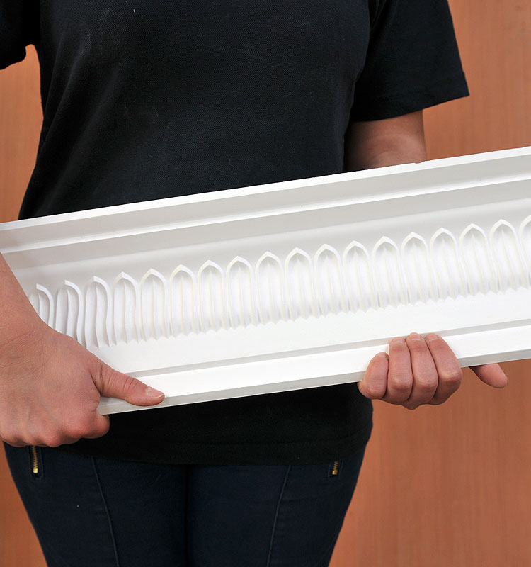 Large Fluted Plaster Coving