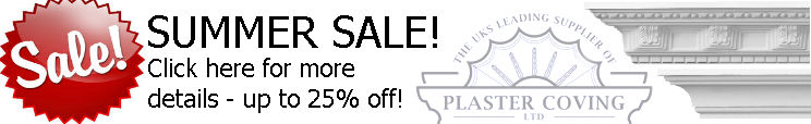 Summer Sale from Plaster Coving of North Yorkshire