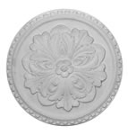 "17"" Small Dentil Plaster Ceiling Rose 432mm"