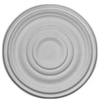 "19"" Plain Plaster Ceiling Rose 482mm"