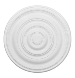 24 Plain Plaster Ceiling Rose 609mm