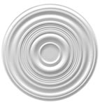 "34"" Plain Plaster Ceiling Rose 865mm"