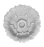 "7"" Flower Plaster Ceiling Rose 178mm"