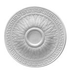 Greek Leaf Plaster Ceiling Rose 460mm