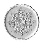 Harvest Leaf Plaster Ceiling Rose 550mm