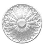 Large Spread Leaf Plaster Ceiling Rose 610mm