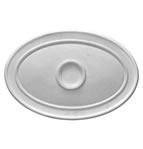 Medium Plain Oval Plaster Ceiling Rose <br> 720mm by 490mm