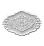 Oval Rococo Plaster Ceiling Rose 660mm by 432mm
