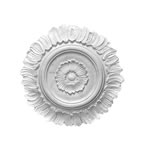 Small Flower and Petal Plaster Ceiling Rose 325mm