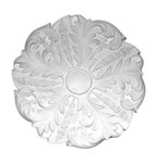 Swelled Leaf Plaster Ceiling Rose 510mm
